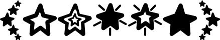 Preview image for MF Star Dings Regular Font