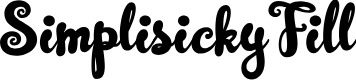 Preview image for SimplisickyFill Font