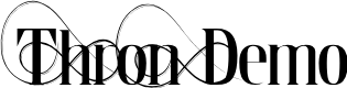 Preview image for Thron Demo Font