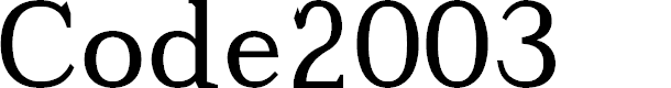 Preview image for Code2003 Font