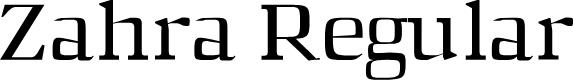 Preview image for Zahra Regular Font