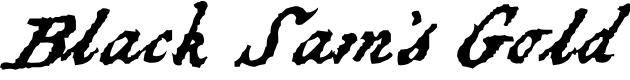 Preview image for Black Sam's Gold Font