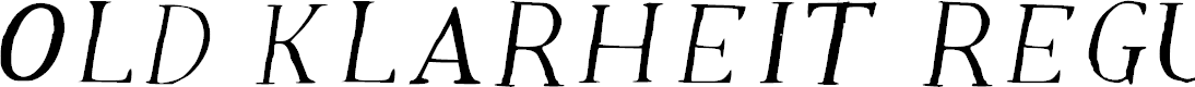 Preview image for Old Klarheit Regular Font