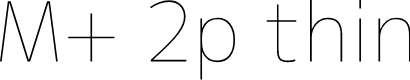 Preview image for M+ 2p thin