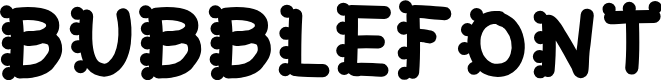 Preview image for bubblefont