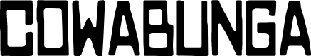 Preview image for COWABUNGA Font