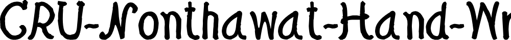 Preview image for CRU-Nonthawat-Hand-Written Bold Font