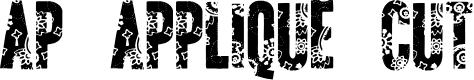 Preview image for AP Applique Cut  Font