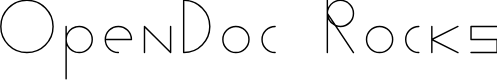 Preview image for OpenDoc Rocks Font