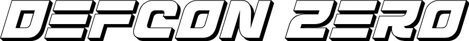 Preview image for Defcon Zero 3D Italic
