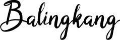 Preview image for Balingkang Font