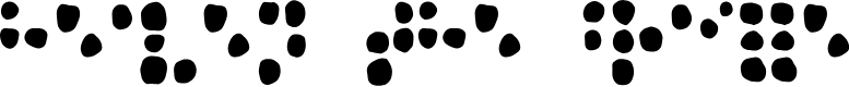 Preview image for Heaven the Braille Font