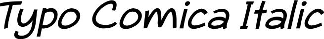 Preview image for Typo Comica Italic