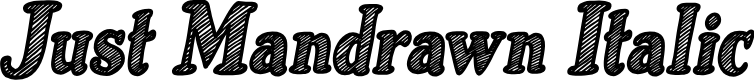 Preview image for Just Mandrawn Italic