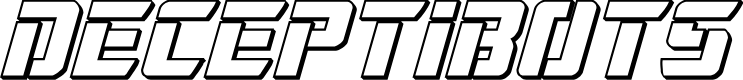 Preview image for Deceptibots 3D Italic