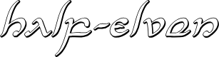 Preview image for Half-Elven 3D Italic Italic