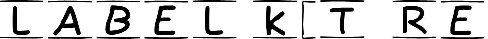 Preview image for Label Kit - Regular Demo Font