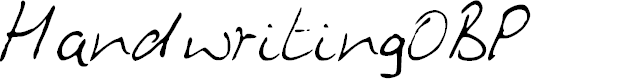 Preview image for HandwritingOBP Font