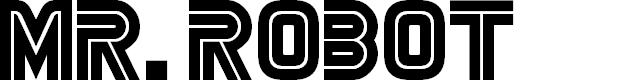 Preview image for MrRobot Font