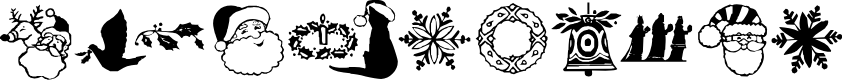 Preview image for KR Christmas Dings Two Font