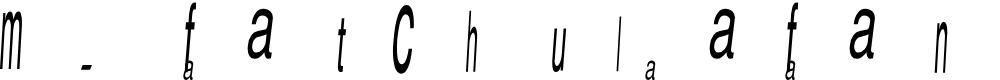 Preview image for m. fatchul afandi sans Font