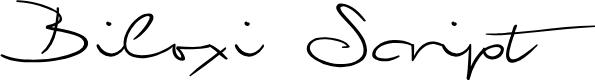 Preview image for Biloxi Script Font