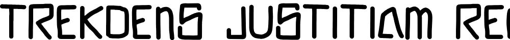 Preview image for Trekdens Justitiam Regular Font