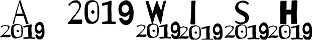 Preview image for A 2019 Wish Font