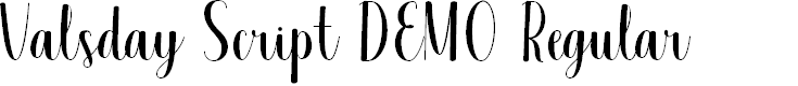 Preview image for Valsday Script DEMO Regular