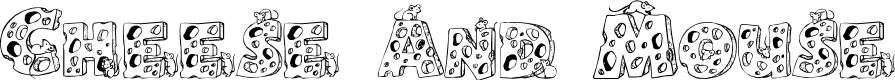Preview image for Cheese and Mouse Font