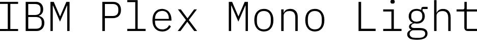 Preview image for IBM Plex Mono Light