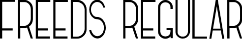 Preview image for Freeds Regular Font