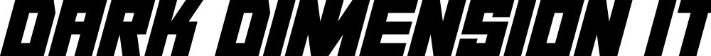 Preview image for Dark Dimension Italic