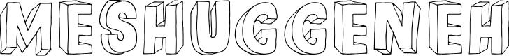 Preview image for DKMeshuggeneh Font