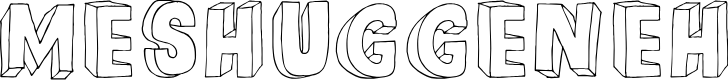 Preview image for DKMeshuggeneh Font