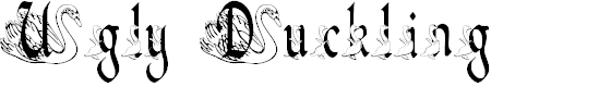 Preview image for BJF Ugly Duckling Font