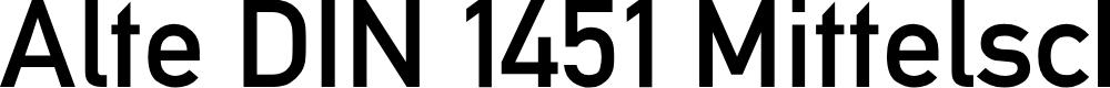 Preview image for Alte DIN 1451 Mittelschrift Font