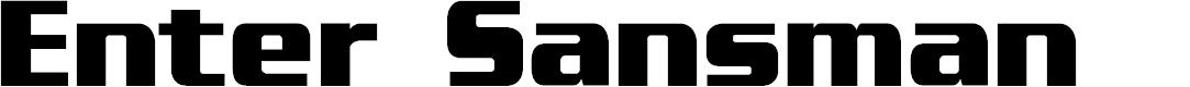 Preview image for Enter Sansman Bold