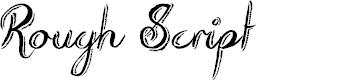 Preview image for Rough Script Font