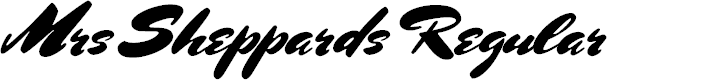Preview image for Mrs Sheppards Regular Font