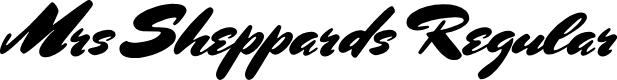Preview image for Mrs Sheppards Regular Font