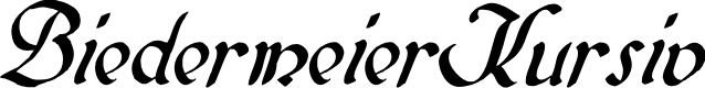 Preview image for BiedermeierKursiv Font