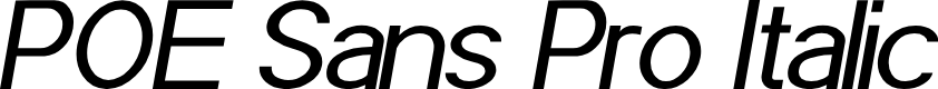 Preview image for POE Sans Pro Italic