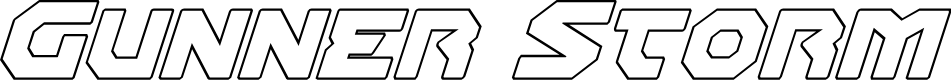 Preview image for Gunner Storm Outline Italic