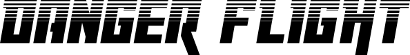 Preview image for Danger Flight Halftone Italic