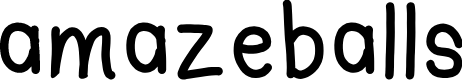 Preview image for amazeballs Font