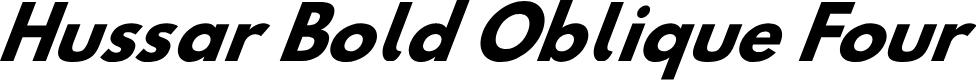 Preview image for Hussar Bold Oblique Four