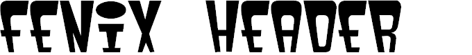 Preview image for fenix header Font