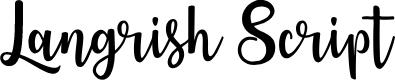 Preview image for Langrish Script  Font