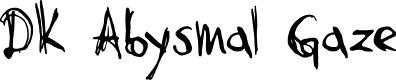 Preview image for DK Abysmal Gaze Font